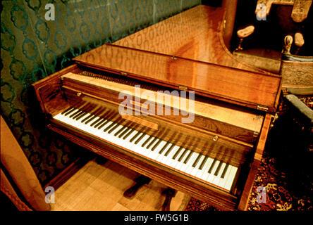 Ludwig Van Beethoven - der deutsche Komponist Broadwood-Klavier an der Liszt-Museum in Budapest, Ungarn (alte Akademie). - Stockfoto