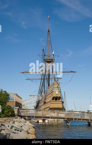 Mayflower II ist eine Nachbildung der ursprünglichen Mayflower, - Stockfoto