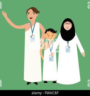 Weißes mädchen aus muslimischen mann
