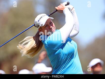 Rancho Mirage, Kalifornien, USA. 2. April 2016. Brittany Lincicome trifft ein Schuss in der dritten Runde der 2016 - Stockfoto