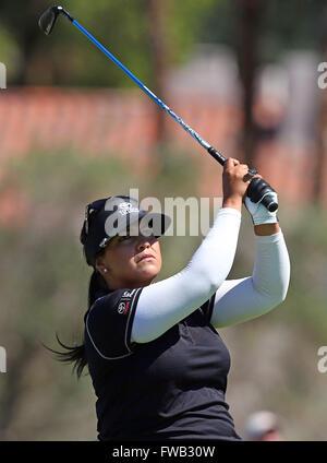 Rancho Mirage, Kalifornien, USA. 2. April 2016. Lizette Salas trifft ein Schuss in der dritten Runde der 2016 ANA - Stockfoto
