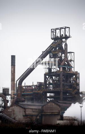 Tata Stahlwerk Stahl in Port Talbot, South Wales.