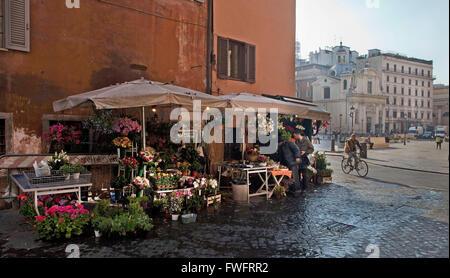 Rom, Italien: Blume stand - Stockfoto