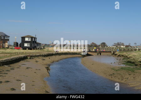 Krabbe Angeln in Walberswick - Stockfoto