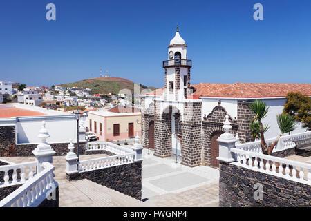 Iglesia Santa Maria De La Concepcion Kirche, Valverde, UNESCO-Biosphärenreservat, El Hierro, Kanarische Inseln, - Stockfoto