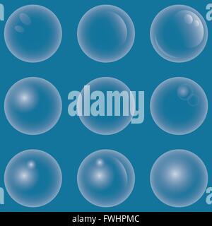 Abbildung Vektor Grafik gesetzt Seifenblase für den kreativen Einsatz in Web- und Grafikdesign - Stockfoto
