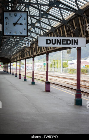 Bahnhof in Dunedin, Otago, Neuseeland - Stockfoto