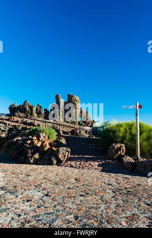 Roque de Los Muchachos, Rook Boys ist ein felsiger Hügel auf dem höchsten Punkt auf der Insel La Palma auf den Kanarischen - Stockfoto