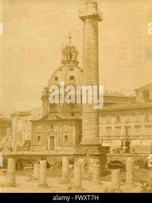 Die Trajanssäule, Rom, Italien - Stockfoto