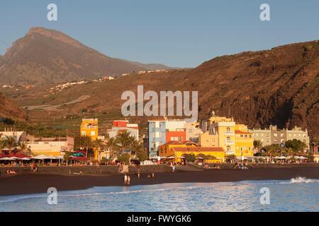 Playa del Puerto, Puerto de Tazacorte, La Palma, Kanarische Inseln, Spanien - Stockfoto
