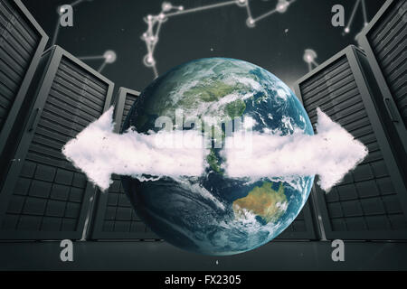 Zusammengesetztes Bild ein Bild wo die Erde ist - Stockfoto