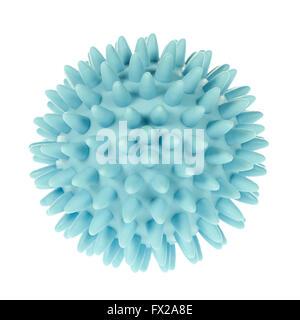 Spikey blau Massage-Ball isoliert auf weiss - Stockfoto