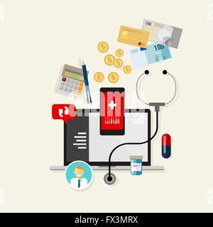 medizinische Behandlung Kosten Zahlung Finanzen Gesundheit - Stockfoto