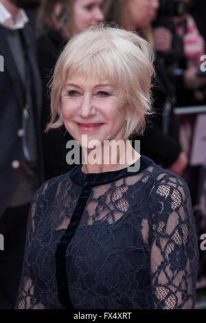 London, UK. 11. April 2016. UK-premiere von Eye In the Sky auf 04.11.2016 an Curzon Mayfair, London. Im Bild: Helen - Stockfoto