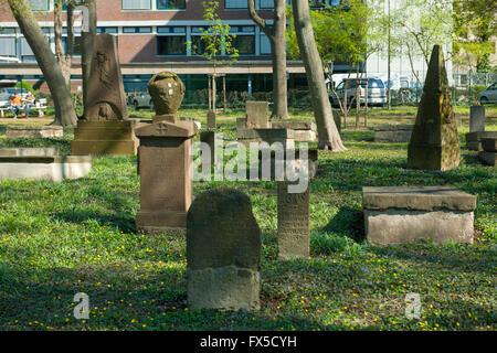 Köln, Sülz, Weyertal, geusenfriedhof, der ältesten protestantischen Friedhof im Rheinland, um 1584. - Stockfoto