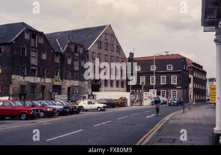 Archiv Bild der verlassenen mittelalterlichen Lager, South Square, Boston, Lincolnshire, England, 12. August, finden - Stockfoto