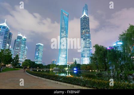 Wolkenkratzer in Shanghai - Stockfoto