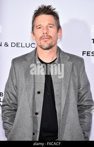New York, NY, USA. 14. April 2016. Ethan Hawke in Anwesenheit für Tribeca Gespräche Geschichtenerzähler: Patti Smith - Stockfoto