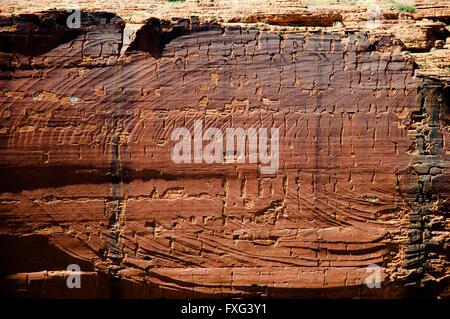 Erosive Wand in Kings Canyon - Northern Territory - Australien - Stockfoto