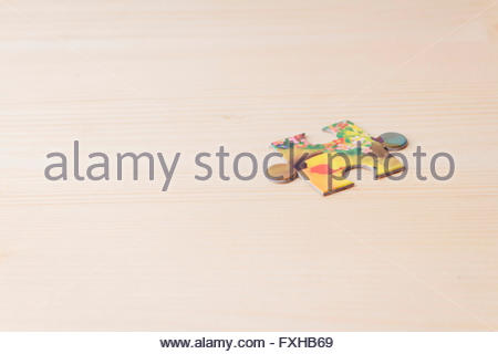 Bunte Puzzle-Teile - Stockfoto