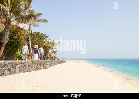 Strand in der Nähe von Morro Jable, Jandia, Fuerteventura, Kanarische Inseln, Spanien - Stockfoto
