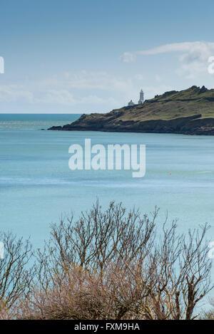 Ein Blick auf Start- und Start Point Lighthouse auf der South Devon Coast UK - Stockfoto
