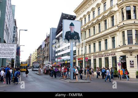 Checkpoint Charlie, Berlin, Deutschland - Stockfoto