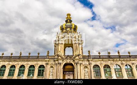 Kronentor oder Krone Tor des Zwingers in Dresden - Stockfoto
