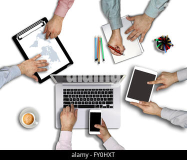 Gruppe der viel beschäftigte Leute, die in einem Büro gearbeitet. - Stockfoto