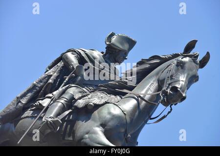 Reiterdenkmal Friedrich der Grosse, Unter Den Linden, Mitte, Berlin, Deutschland - Stockfoto