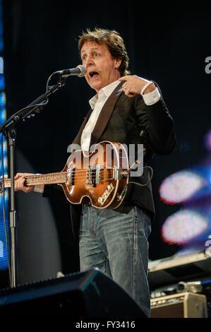 Live 8 am Hyde Park, London. 2 Juli 2005.Paul McCartney - Stockfoto