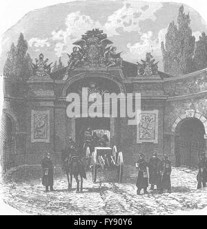 Deutschland: Berliner Tor in Wesel, antique print 1903 - Stockfoto