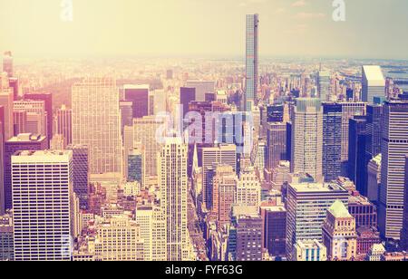 Vintage getönten Bild von Manhattan, New York City, USA. - Stockfoto