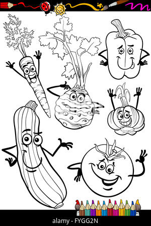 Cartoon-Gemüse set für Malbuch Stockfoto, Bild: 103011343 - Alamy
