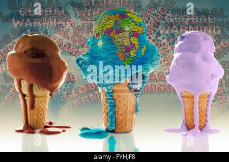 Globus, Eis-Konzept Stockfoto