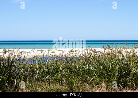 Die ruhigen Indischen Ozean bei Dunsborough, Geographe Bay South Western Australia an einem schönen Nachmittag im - Stockfoto