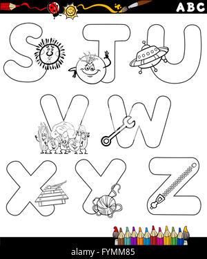 lustige alphabet malvorlagen vektor abbildung - bild: 96723906 - alamy