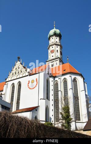 Die Abtei von St. Ulrich und St. Afra (16. Jh.) der alten Stadt in Augsburg, Bayern, Deutschland - Stockfoto