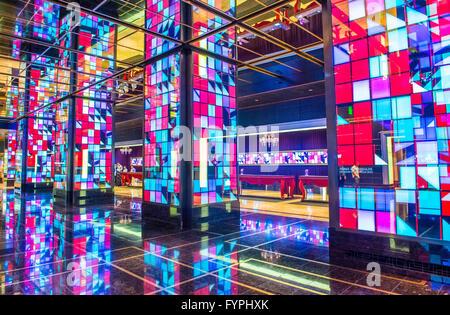 Das Interieur des kosmopolitischen Hotels Casino in Las Vegas - Stockfoto