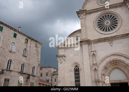 Die Kathedrale von Sibenik. Kroatien - Stockfoto