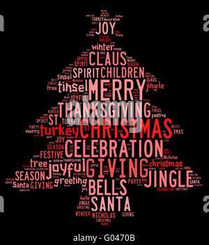 Wort wolke frohe weihnachten in allen sprachen der welt mit weihnachtsbaum form und variablen - Schwarzer weihnachtsbaum ...