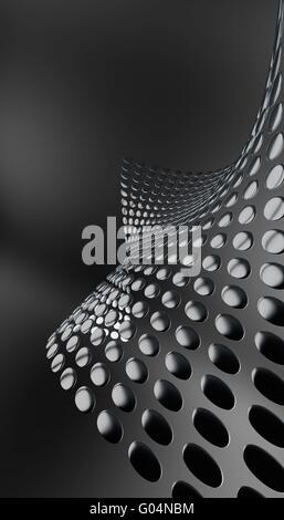 abstrakte metallischen Platten Form gerundet eine Welle auf eine - Stockfoto