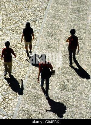 Vier Wanderer - Stockfoto