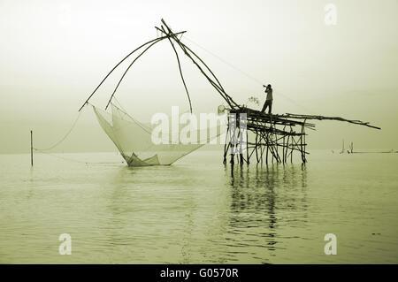 großen Fischernetz - Stockfoto