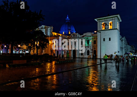 Kathedrale und Clock Tower, Popayán, Kolumbien - Stockfoto