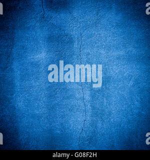 Stein Wand blaue Hintergrund - Stockfoto