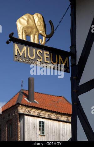 Museum für Ur- und Frühgeschichte in Balve. - Stockfoto