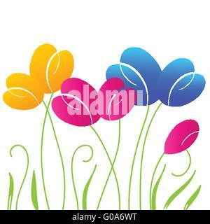 Zusammenfassung Hintergrund mit bunten hellen Tulpe Blumen Stockfoto