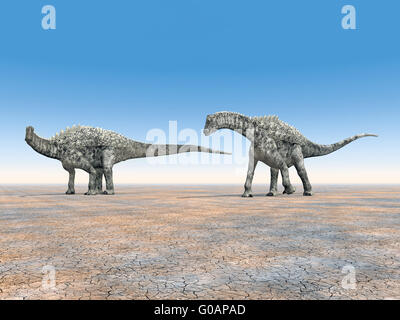 Dinosaurier Ampelosaurus - Stockfoto