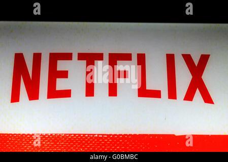 """Das Logo der Marke """"Netflix"""", Berlin. - Stockfoto"""